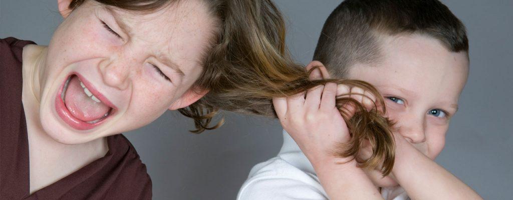 Litigano sempre, fratelli che litigano tirandosi i capelli