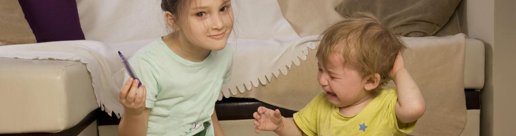Litigano appena non ci sei: la sorella più grande ha tolto un gioco al più piccolo che ora piange